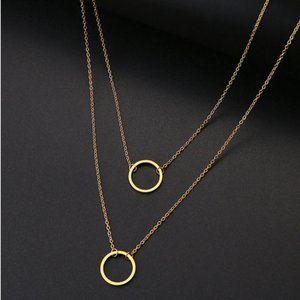 Geometric Gold Tone Necklace
